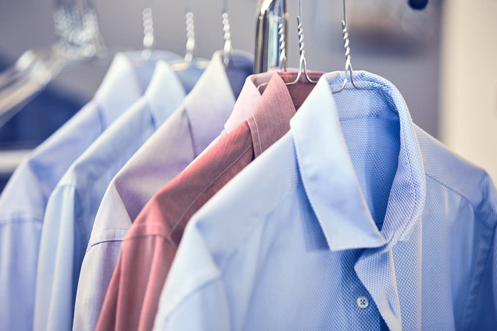 Try our shirt service - we wash, iron and hang all clothes